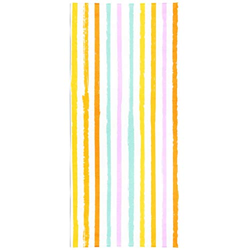 - Soopat Beach Towel,Drawn Striped Pattern Vintage Textile Stripes Lines Watercolor Funky Fashion 30x60 Inch s Sand Free Beach Blanket for Travel Sports Beach Yoga Water Park