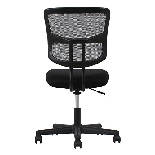 essentials swivel armless mid back mesh task chair ergonomic import it all. Black Bedroom Furniture Sets. Home Design Ideas