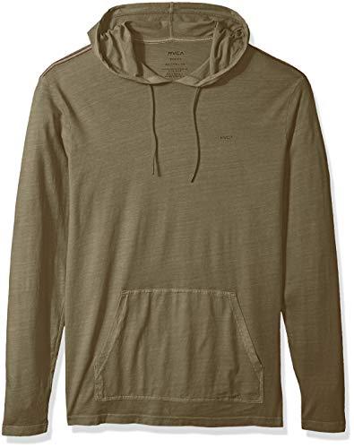 RVCA Men's PTC Pigment Hooded T-Shirt, Olive, S (Pigment Mens)