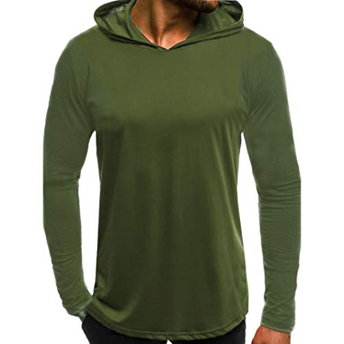 Lettres Tee Capuche Pure Haut Vêtements Automne Longues Casual Slim Tops De Hommes Chic shirts Impression Couleur Pull Top À Lâche Adeshop Vert Sweat Manches Sportswear Mode vnqSXX