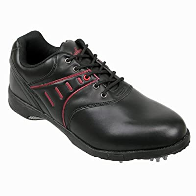 Confidence All Black Mens Waterproof Golf Shoes