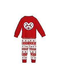 BETTERUU Set of Family Matching Christmas Pajamas Daddy Mum Kids Sleepwear Deer