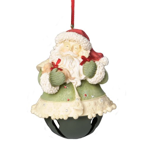 Enesco Heart of Christmas Santa Bell Ornament, 4.13-Inch by Enesco