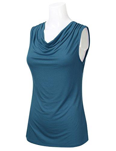Buy sleeveless cowl neck tops for women