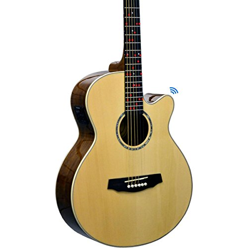 fretlight fg 629 wireless acoustic electric guitar learning system natural guitar buy. Black Bedroom Furniture Sets. Home Design Ideas