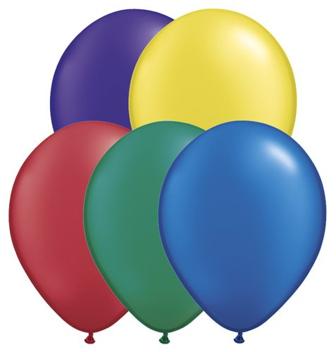 "Pioneer Balloon Company (43743.0) 100 Count Radiant Pearl Latex Balloon, 11"", Assorted"