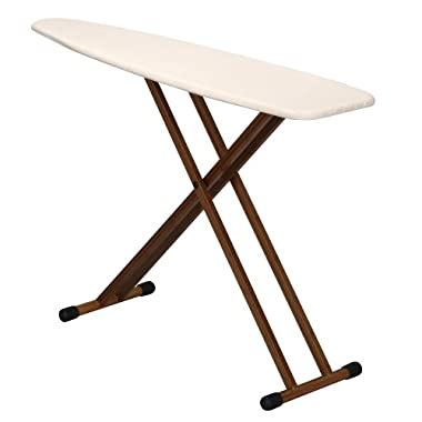 Household Essentials Ironing Board with Bamboo Legs and Natural Cover
