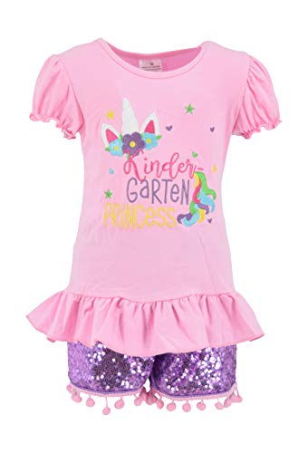Unique Baby Girls Kindergarten Princess Back to School Outfit (6/XL) Pink