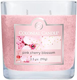 product image for Colonial Candle 3-1/2-Ounce Scented Oval Jar Candle, Pink Cherry Blossom