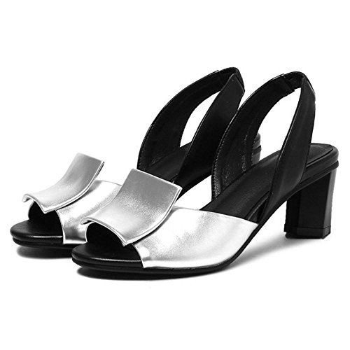 Enfiler a Silver AicciAizzi Femmes Sandales pEnqH