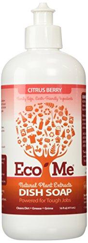 Eco-Me Natural Sudsing Liquid Dish Soap, Citrus Berry, 16 Fluid Ounce