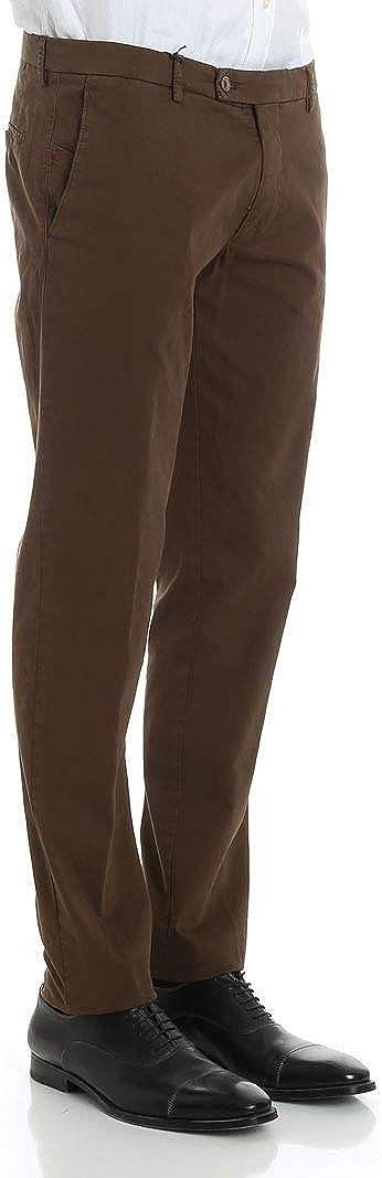 BERWICH Luxury Fashion Mens SLIMTS0001XTERRA Brown Pants Season Outlet