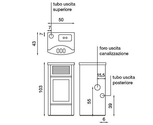 Estufa a PELLAS Palladio Holanda Burdeos 12 kw. para 250 MC Profundidad 43 cm burdeos: Amazon.es: Bricolaje y herramientas