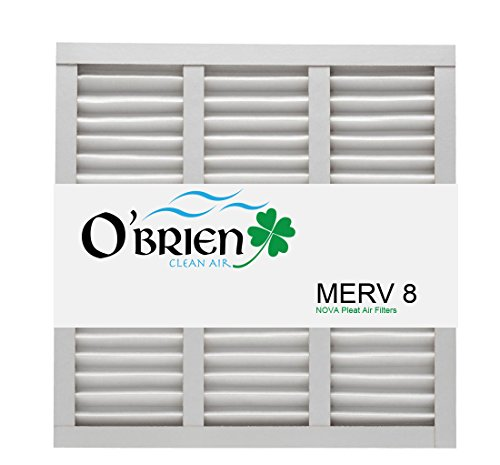 20X21X1 MERV 8 Air Filter (6 Pack)- O'Brien Clean Air 20x2x1 (Nominal) 19 1/2x20 1/2x3/4(Actual Size)