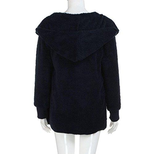 Tops Larga youth® Baratas de abrigo Invierno Suelta K Armada Piel Mujer Ropa Suéter Manga sintética Ropa xT7UCqYw
