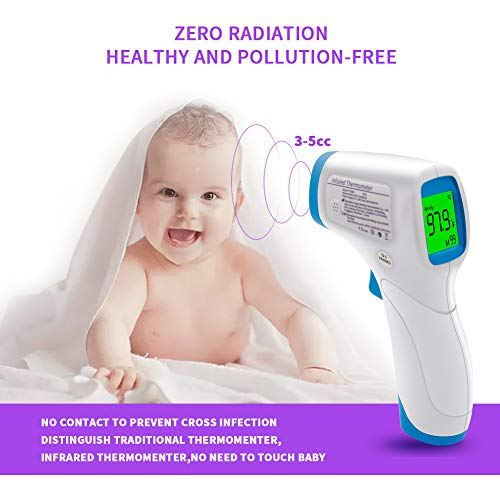 41fmt1UTmpL Amerzam Forehead Baby Thermometer, No-Contact Infrared Digital Thermometer Body and Surface Thermometer 2 in 1 Dual Mode for for Baby, Kids and Adults    Product Description