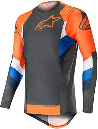Fluorescent Gris Orange Supertech Maillot l 2019 Anthracite Motocross Alpinestars qYRw6T