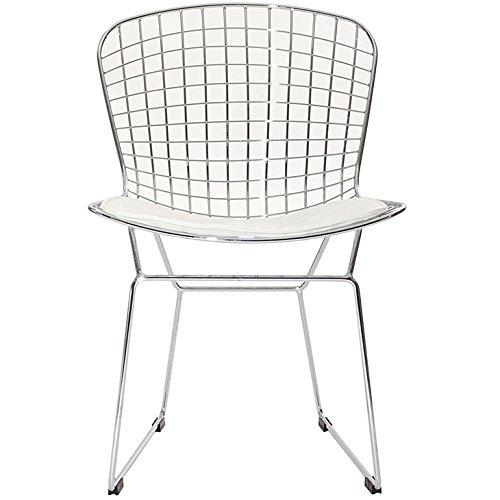 Bertoria Wire Dining Chair White Seat