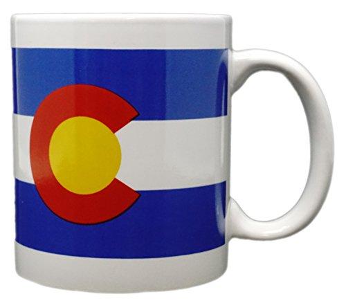 Funny Guy Mugs Colorado Flag Ceramic Coffee Mug, White, 11-Ounce