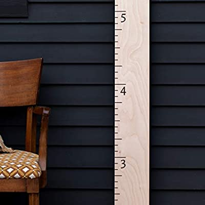 Natural Wood Boho Farmhouse Wooden Ruler Growth Height Chart (Loved Beyond Measure): Baby