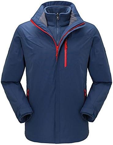 スキージャケット メンズ防風Rainproow暖かい通気性軽量リムーバブルライニング防風カップルスーツ 男性用と女性用の防水防風スキージャケット (色 : 青, サイズ : XL) 青 X-Large