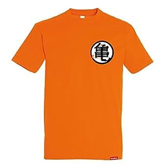 Camiseta Kame Kanji - Goku Dragon Ball - Color Naranja