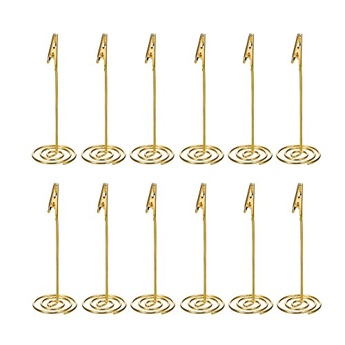 Artliving 12pcs Place Card Holder Memo Holder Clip Photo Holder Table Number Holder ()