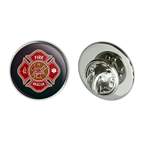 GRAPHICS & MORE Firefighter Fire Rescue Maltese Cross Metal 0.75