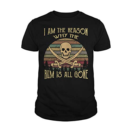Men's I Am The Reason Why The Rum is All Gone T-Shirt (M, Black)