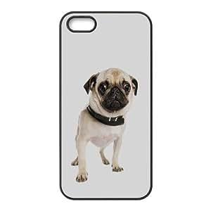 Caso lindo del barro amasado Teléfono Celular perro iPhone 4 4S funda Negro caja del teléfono celular Funda Cubierta EEECBCAAL75655