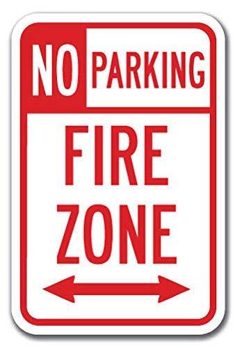 Kysd43Mill Señal de advertencia de zona de fuego sin ...