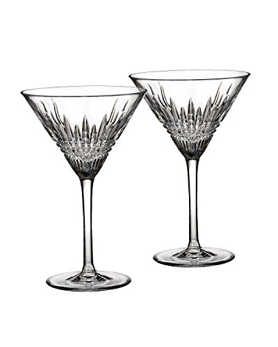 Waterford Crystal Pilsner - Waterford Crystal Lismore Diamond Martini Glasses, Pair
