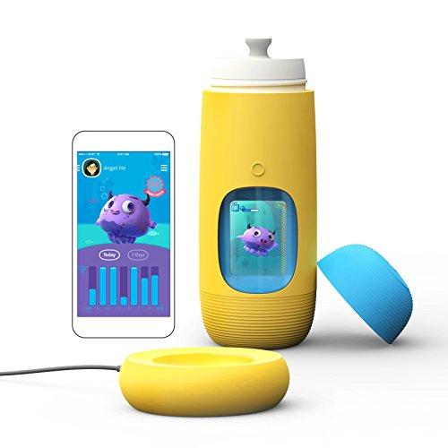 Interactive Dock (Gululu The Interactive Smart Water Bottle & Health Tracker For Kids, plus App (Submarine Yellow))