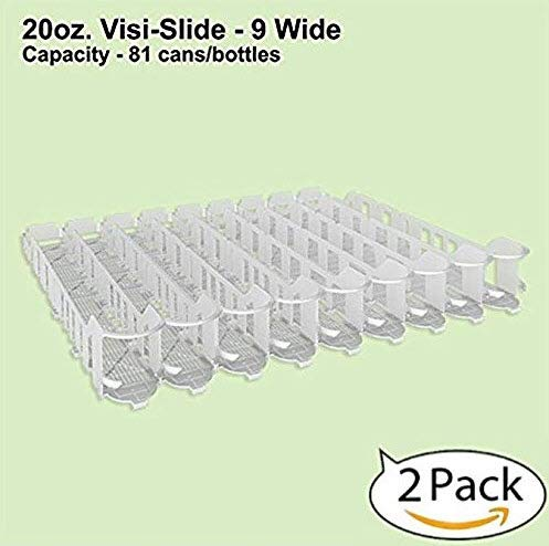 - Display Technologies, LLC 20oz. Visi-Slide 9 Wide Beverage Shelf Glide - 2 Pack
