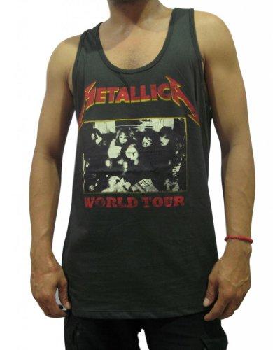 Bunny Brand Men's Metallica Concert World Tour Rock Tank Top T-Shirt,Large