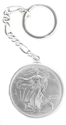 Sterling Silver 1 oz American Walking Liberty Eagle Dollar Coin (Eagle Coin Ring)