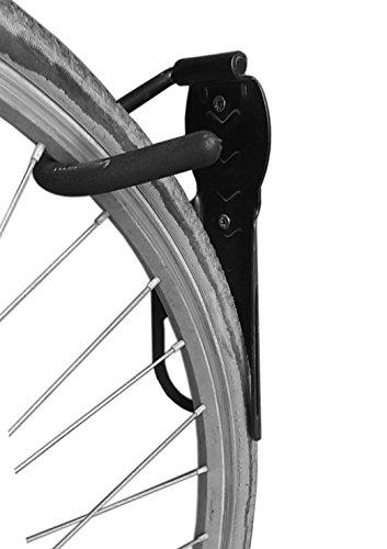 2PCS Bike Rack Garage Wall Mount Bike Hanger Storage System Vertical Bike Hook for Indoor Shed Easily Hang/Detach Heavy Duty Holds up to 65 lb with Screws Black by VILOBYC (Image #1)