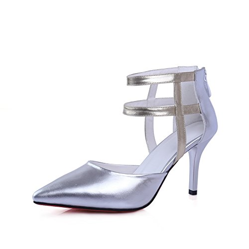 BalaMasa Womens Cold Lining Dress Mini-Size Urethane Sandals ASL05164 Silver fP3Gx