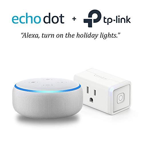 Echo Dot (3rd Gen) – Sandstone with TP-Link Smart Plug Mini