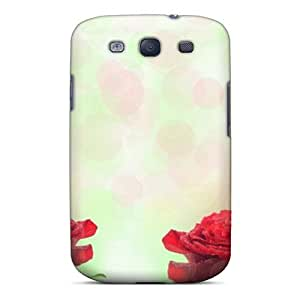 Defender Case With Nice Appearance (roses Red) For Galaxy S3