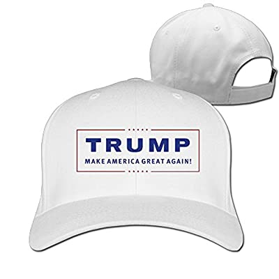 Gsyful Golf Donald Trump Make America Great Again Trucker Baseball Snapback Cap Hat White