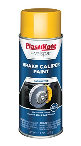 PlastiKote CP-250 Bright Yellow Brake Caliper Paint - 12 Oz.