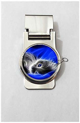 BlackKey Animal Cat Cute Kitty Metal Clip for Receipt, Money, Business Card & Credit Card, Style 2 -151