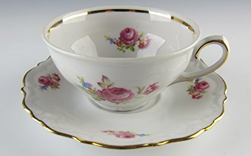 Bavaria China MEISSEN ROSE Cup and Saucer Set(s) EXCELLENT