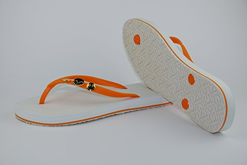 COVYS jandals orange/white #5112 women (Zehentrenner, Sandale, DIY, Pins) Orange/White