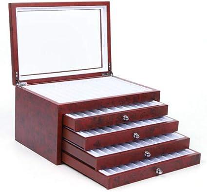 5 strati 56 penne stilografiche legno espositore porta penne in legno scatola portaoggetti organizer organizer scatola rosso