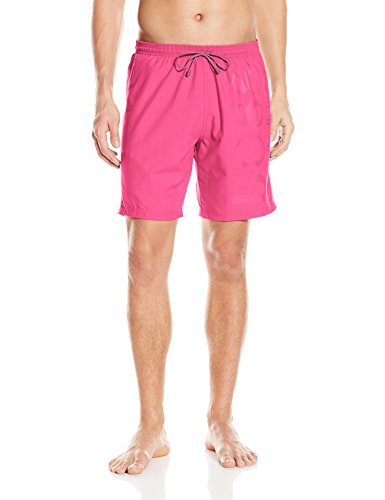 UPC 722557940584, BOSS HUGO BOSS Men's Orca Solid Swim Trunk, Pink/Charcoal, Large