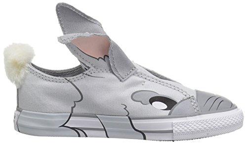 Niña blanco Pure Taylor Los Platinum Bebé All Zapatos Chuck Criaturas uu Ee 6 Niños Gris Star Converse Sin De Child lobo Ox Us Pequeños Cordones Bebés M UxXgHH