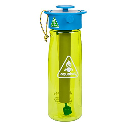 - Lunatec Aquabot Sport Water Bottle - a pressurized Mister, Camp Shower and Hydration in one. Portable Running Water for Your Pocket. BPA Free. Green 650mL