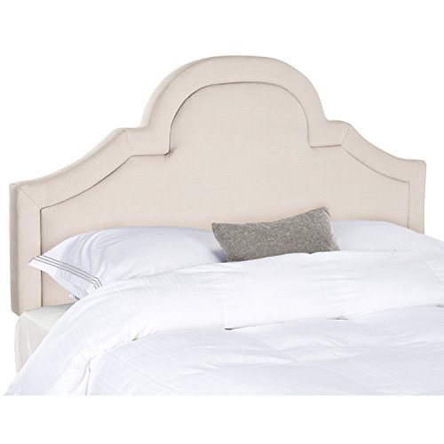 Safavieh Kerstin Taupe Linen Upholstered Arched Headboard (King)